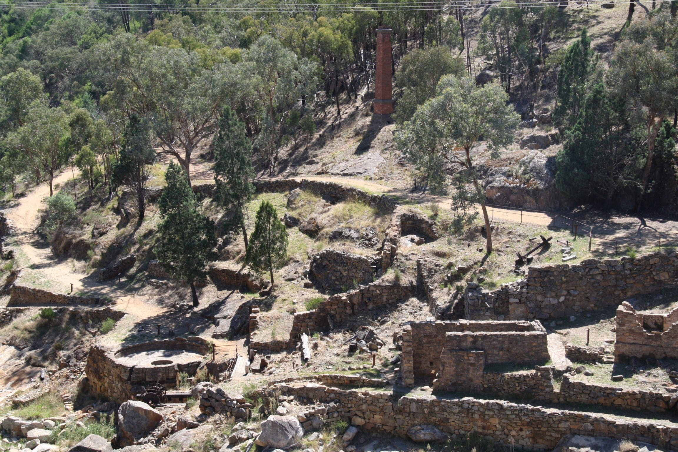 Adelong Falls Gold Mill Ruins - Australia Accommodation